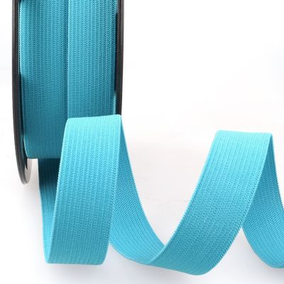 Woven Ribbon Elastic - 10mm Wide - Turquoise
