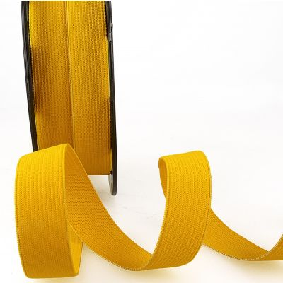 Woven Ribbon Elastic - 10mm Wide - Golden Yellow