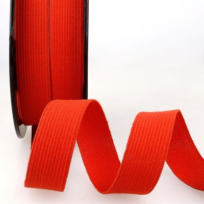 Woven Ribbon Elastic - 20mm Wide - Red