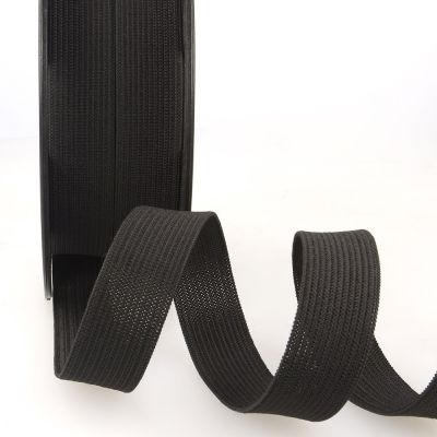 Woven Ribbon Elastic - 20mm Wide - Black