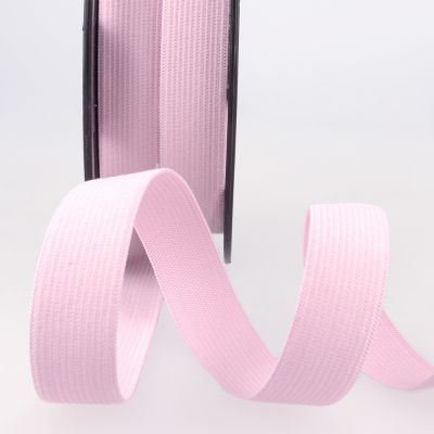 Woven Ribbon Elastic - 20mm Wide - Pink