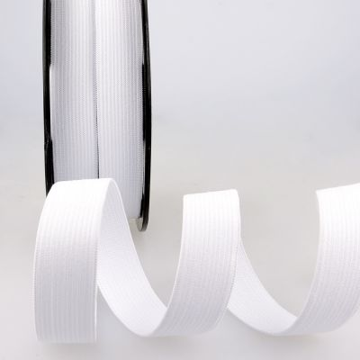 Woven Ribbon Elastic - 25mm Wide - White