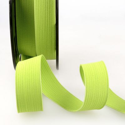 Woven Ribbon Elastic - 25mm Wide - Anise Green