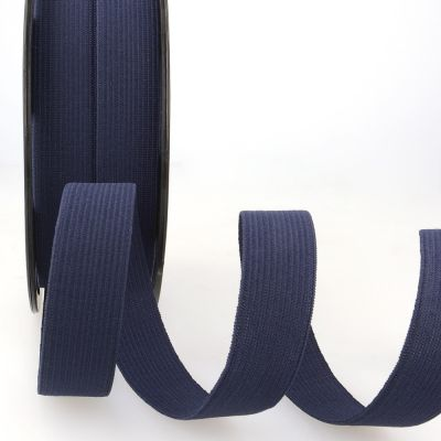 Remnant - Woven Ribbon Elastic - 25mm Wide - Navy - 1m LENGTH