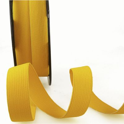 Woven Ribbon Elastic - 25mm Wide - Golden Yellow
