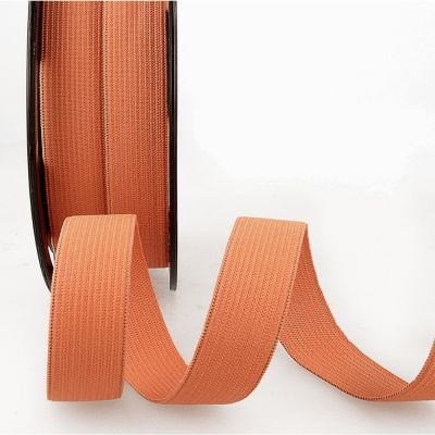 Woven Ribbon Elastic - 25mm Wide - Orange