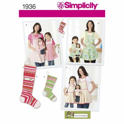 Simplicity Sewing Pattern 1936 Child's & Misses' Aprons