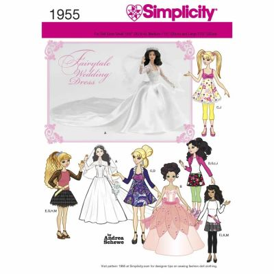 Simplicity Sewing Pattern 1955 Doll Clothes