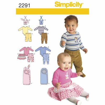 Simplicity Sewing Pattern 2291 Babies' Separates
