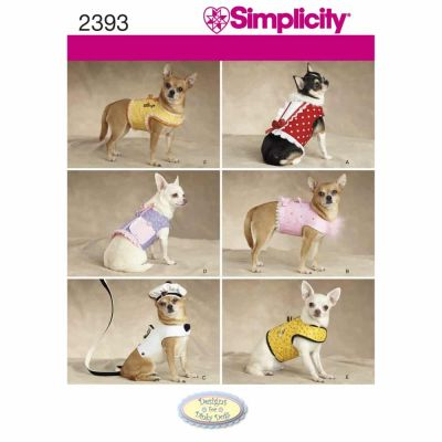 Simplicity Sewing Pattern 2393 Dog Clothes