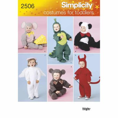 Simplicity Sewing Pattern 2506 Toddler Costumes