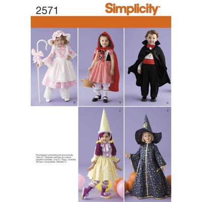 Simplicity Sewing Pattern 2571 Toddler Costumes