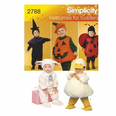 Simplicity Sewing Pattern 2788 Toddler Costumes