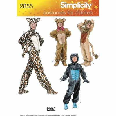 Simplicity Sewing Pattern 2855 Child, Boy & Girl Costumes