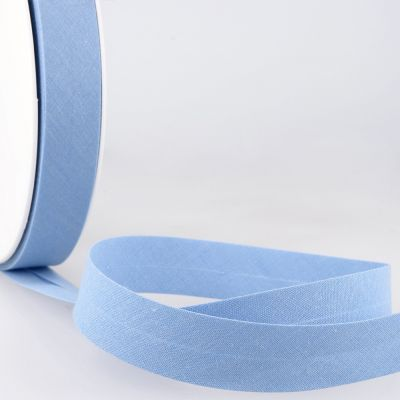 Stephanoise Plain Bias Binding - 50mm Wide - Light Blue