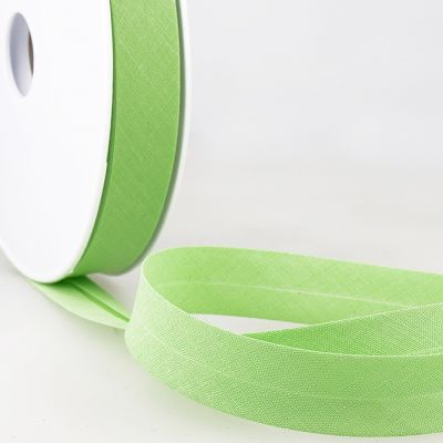 Stephanoise Plain Bias Binding - 20mm Wide - Candy Green