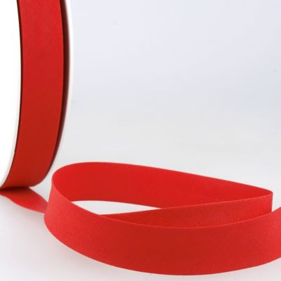Stephanoise Plain Bias Binding - 50mm Wide - Cherry Red