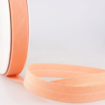 Stephanoise Plain Bias Binding - 27mm Wide - Light Orange