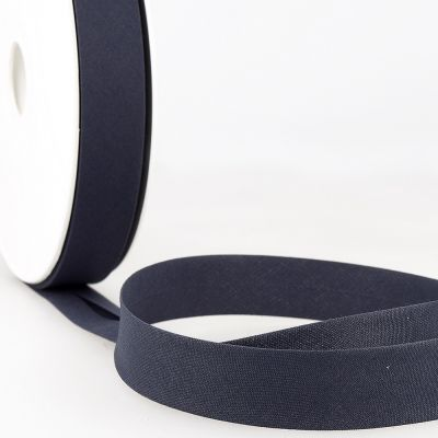 Stephanoise Plain Bias Binding - 50mm Wide - Navy