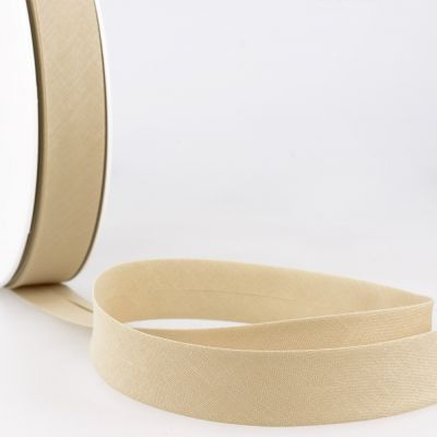 Stephanoise Plain Bias Binding - 27mm Wide - Dark Cream