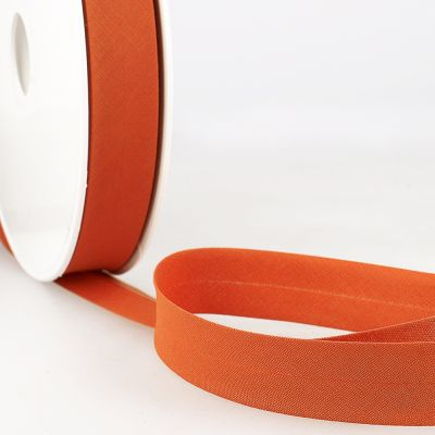Stephanoise Plain Bias Binding - 20mm Wide - Terracotta