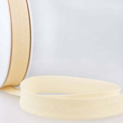 Stephanoise Plain Bias Binding - 50mm Wide - Dark Ivory