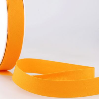 Stephanoise Plain Bias Binding - 20mm Wide - Golden Yellow