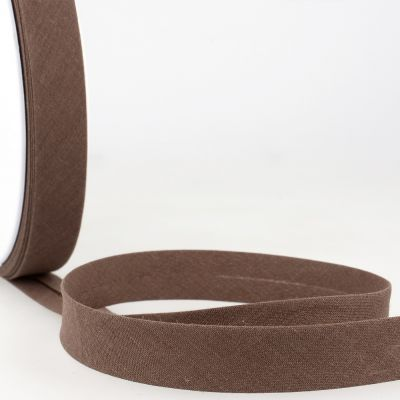Stephanoise Plain Bias Binding - 50mm Wide - Dark Brown