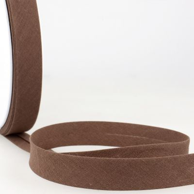 Stephanoise Plain Bias Binding - 50mm Wide - Chocolate Brown