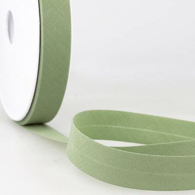 Stephanoise Plain Bias Binding - 50mm Wide - Medium Green