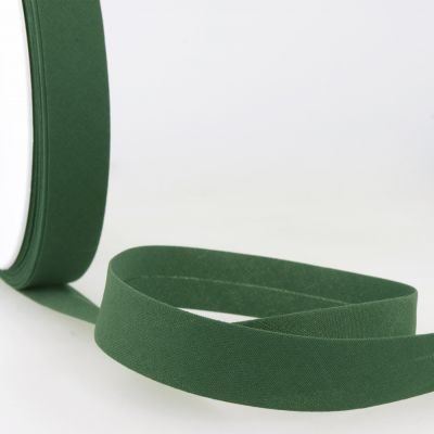 Stephanoise Plain Bias Binding - 27mm Wide - Racing Green