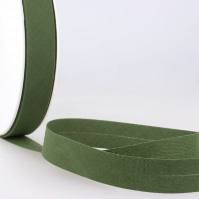 Stephanoise Plain Bias Binding - 27mm Wide - Olive