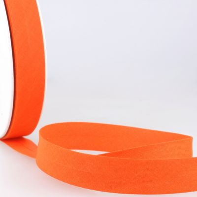 Stephanoise Plain Bias Binding - 27mm Wide - Tangerine