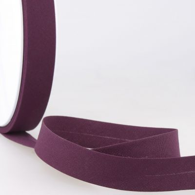 Stephanoise Plain Bias Binding - 20mm Wide - Dark Purple