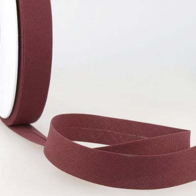 Stephanoise Plain Bias Binding - 20mm Wide - Rich Plum