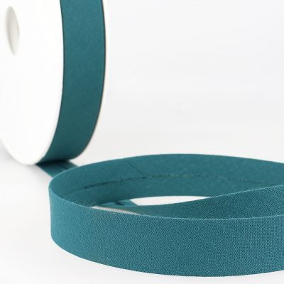 Stephanoise Plain Bias Binding - 20mm Wide - Dark Teal
