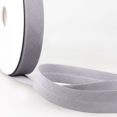 Stephanoise Plain Bias Binding - 20mm Wide - Silver Grey