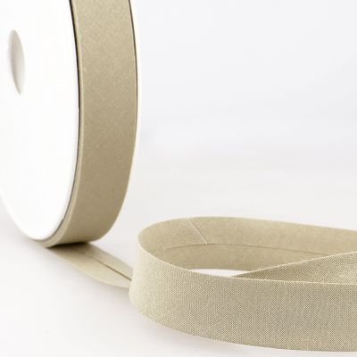 Stephanoise Plain Bias Binding - 20mm Wide - Taupe