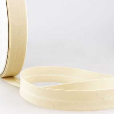 Stephanoise Plain Bias Binding - 27mm Wide - Light Ivory