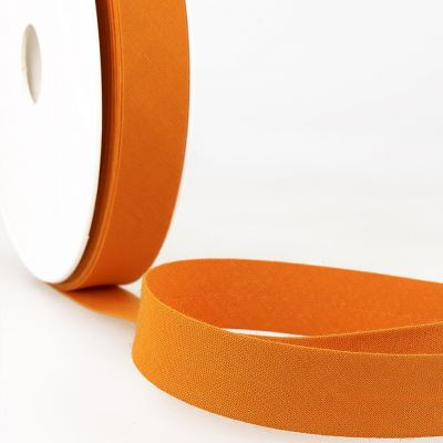 Stephanoise Plain Bias Binding - 20mm Wide - Persimmon