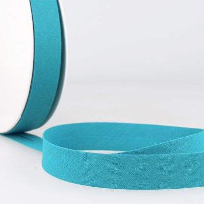 Stephanoise Plain Bias Binding - 20mm Wide - Turquoise Blue