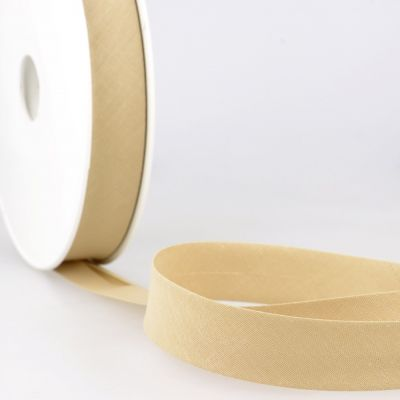 Stephanoise Plain Bias Binding - 20mm Wide - Sand