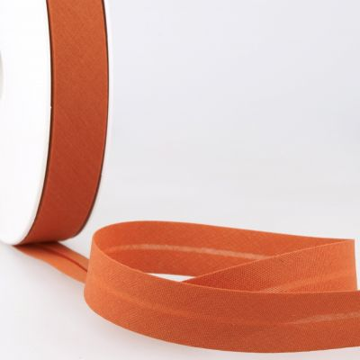 Stephanoise Plain Bias Binding - 20mm Wide - Burnt Orange