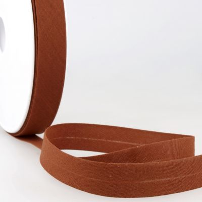 Stephanoise Plain Bias Binding - 50mm Wide - Dark Rust