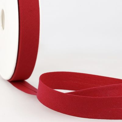 Stephanoise Plain Bias Binding - 20mm Wide - Dark Cherry
