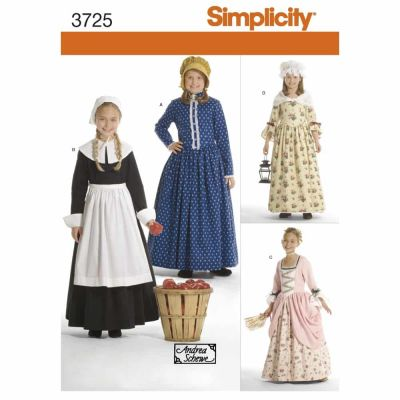 Simplicity Sewing Pattern 3725 Child & Girl Costumes