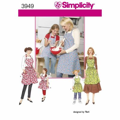 Simplicity Sewing Pattern 3949 Aprons