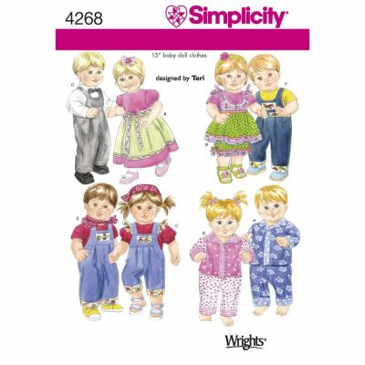 Simplicity Sewing Pattern 4268 Doll Clothes
