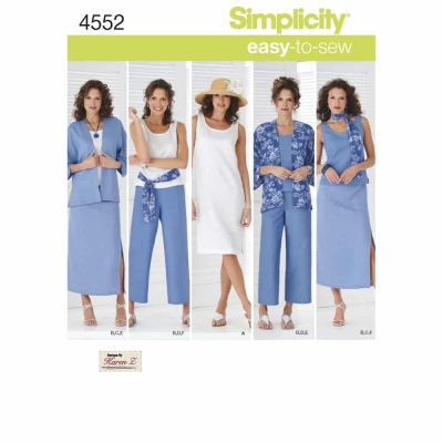 Simplicity Sewing Pattern 4552 Misses' & Plus Size Smart and Casual Wear