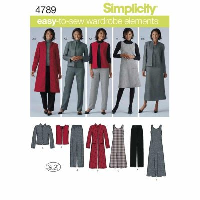 Simplicity Sewing Pattern 4789 Misses' & Plus Size Smart and Casual Wear